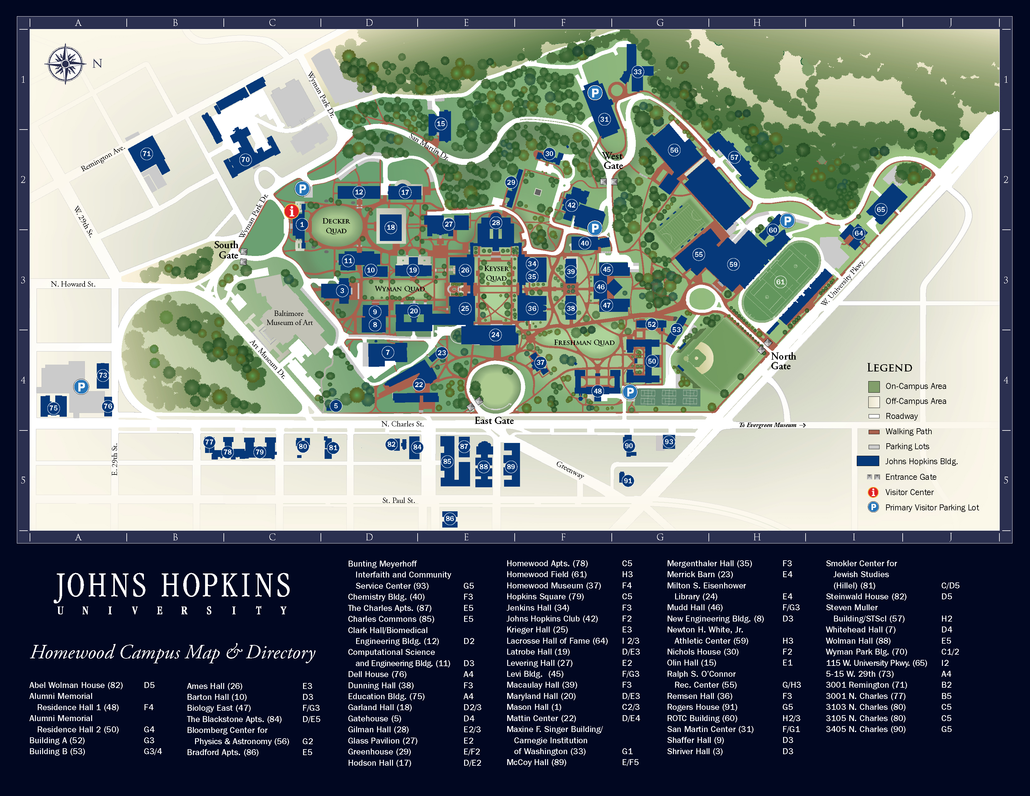 Johns Hopkins Campus Map John Hopkins Campus Map | autobedrijfmaatje
