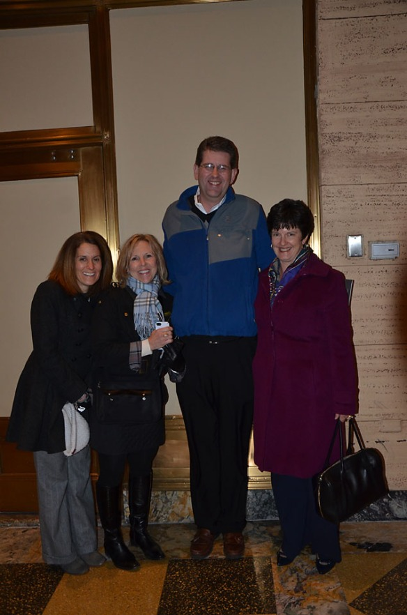 Women Who Stand members with author, Brian Fikkert. And yes, he is really tall!